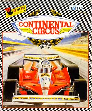 Packaging front cover for Continental Circus