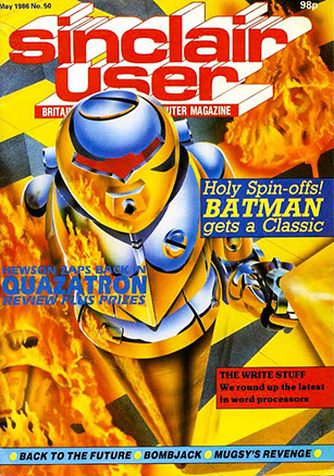 The illustration has text and logos keyed in to complete the cover of Sinclair User Issue 50